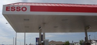 Store front for Esso Gas Station