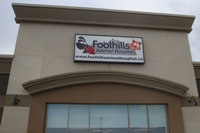 Store front for Foothills Animal Hospital