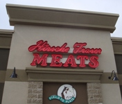 Store front for Hirsche Fraser Meats