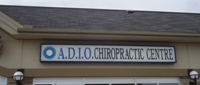 Store front for ADIO Chiropractic Centre