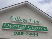 Store front for Village Lane Dental Centre