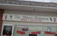 Store front for The Silver Scissors Hair Salon