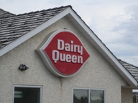 Store front for Dairy Queen