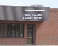 Store front for Royal Canada Liquor Store