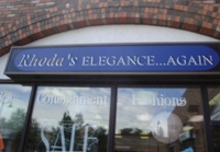 Store front for Rhoda's Elegance... Again