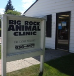 Store front for Big Rock Animal Clinic
