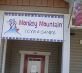 Store front for Monkey Mountain Toys and Games