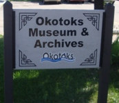 Store front for Okotoks Museum & Archives