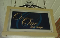 Store front for One on One Hair Design
