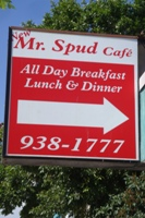 Store front for Mr. Spud Caf�