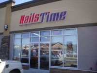 Store front for Nails Time