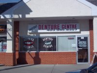 Store front for Okotoks Denture Centre