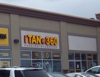 Store front for iTAN 360 Tanning & Esthetics
