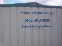 Store front for Sheep River Self Storage