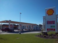 Store front for Shell Gas Bar