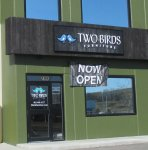 Store front for Two Birds Furniture