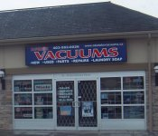 Store front for Superior Vacuums